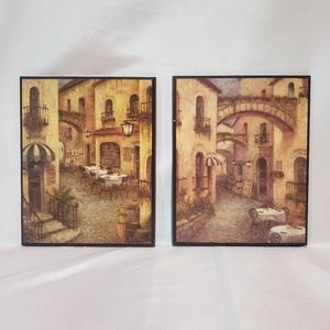 Other - 🌊Pair of Italy Art wood plaques by Ruane Manning